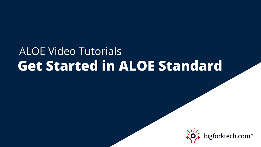 Getting Started in ALOE Standard Image