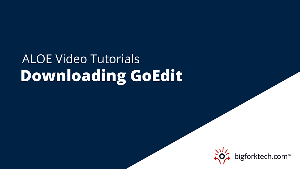 Downloading GoEdit Image