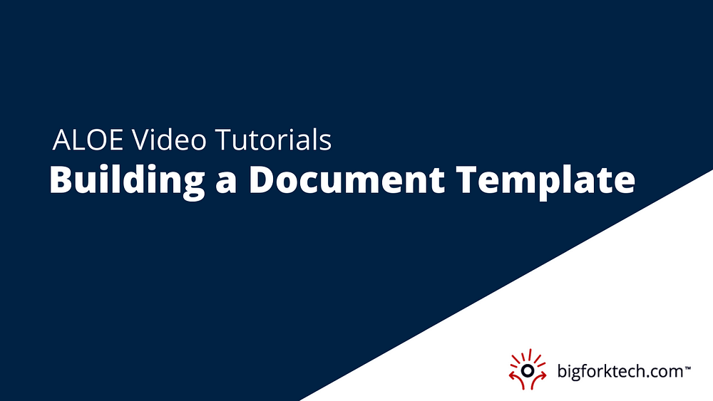 Building a Document Template Image